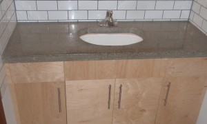 Concrete top with new vanity